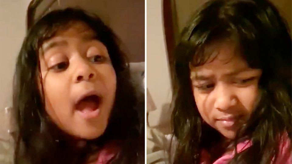 Kleines Mädchen regt sich über Sexismus in der Sprache auf