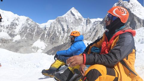 Bergsteiger am Mount Everest (Symbolbild)