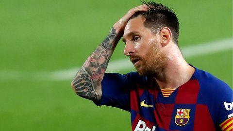 Lionel Messi könnte, wenn er im nächsten Sommer aus Barcelona verschwindet, einen insolventen Verein verlassen