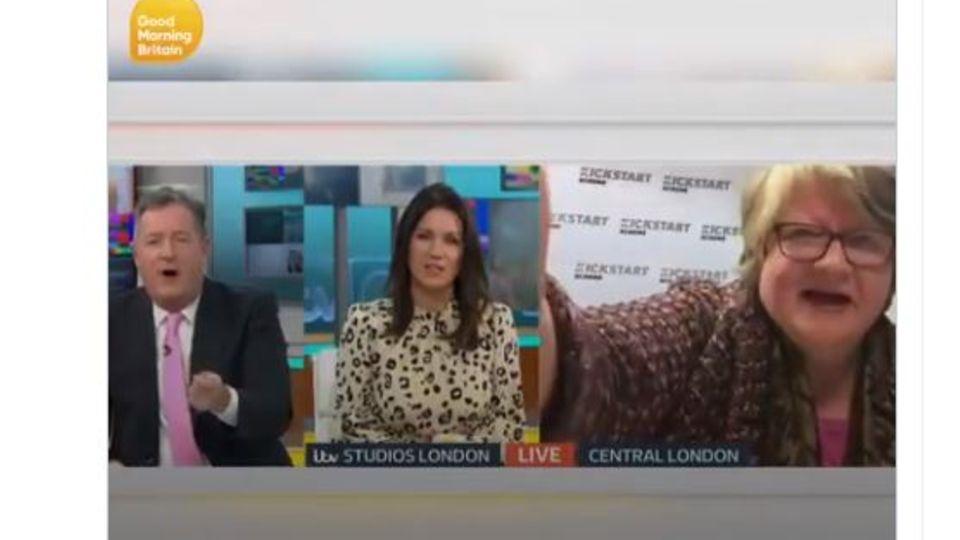 Es ging um Corona-Todesrate: Zoff mit Moderator bei Live-Interview: Britische Arbeitsministerin schaltet Kamera ab