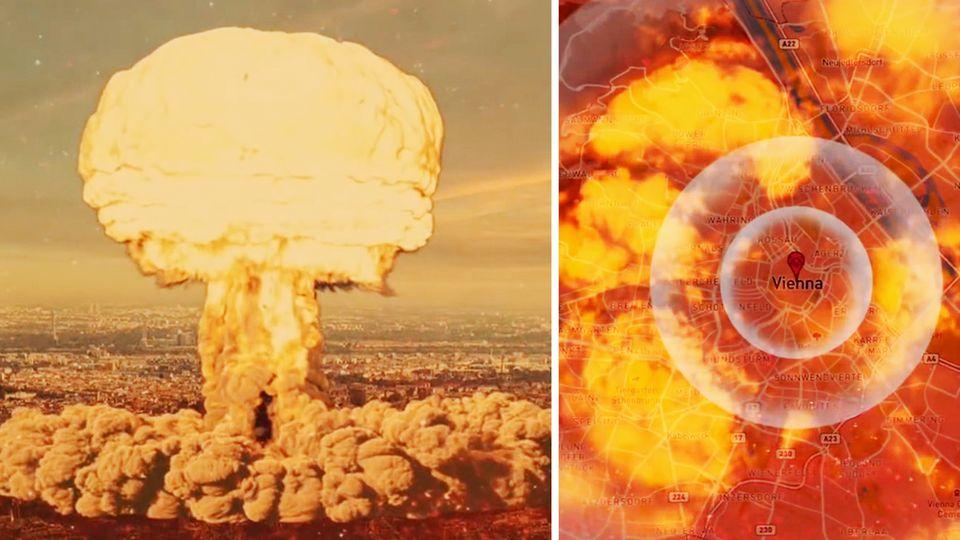 Video zeigt Atombombenexplosion in Wien