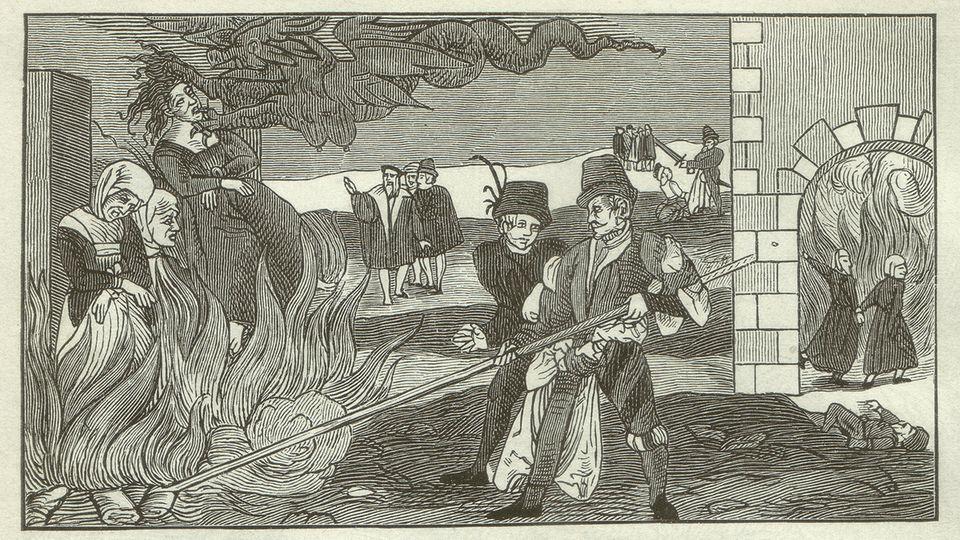 Hexenverbrennung in der Grafschaft Regenstein um 1550.