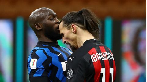 Romelu Lukaku und Zlatan Ibrahimovic beimTête-à-Tête im Pokalduell