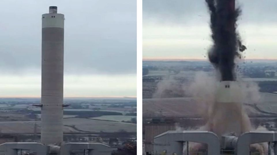 Explosion in England: 183 Meter Turm kollabiert