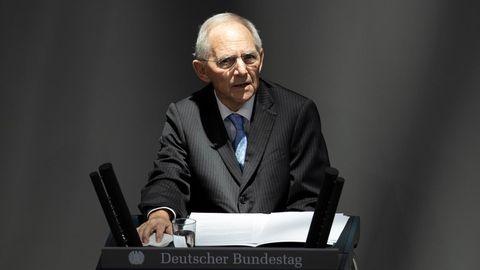 Wolfgang Schäuble während seiner Rede zum Auschwitz-Gedenken im Bundestag