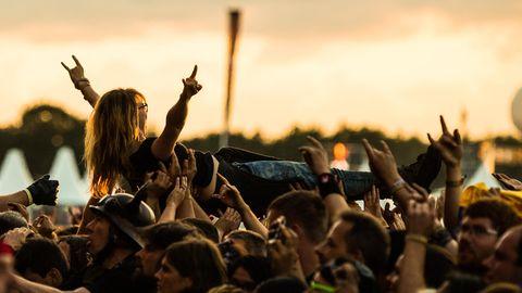 Festivalbesucher in Wacken im Jahr 2017