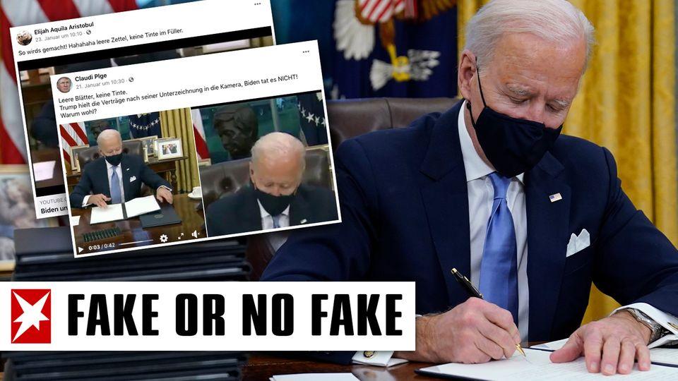 Unterschreibt Biden Dekrete mit leerem Stift? Das Video im Faktencheck