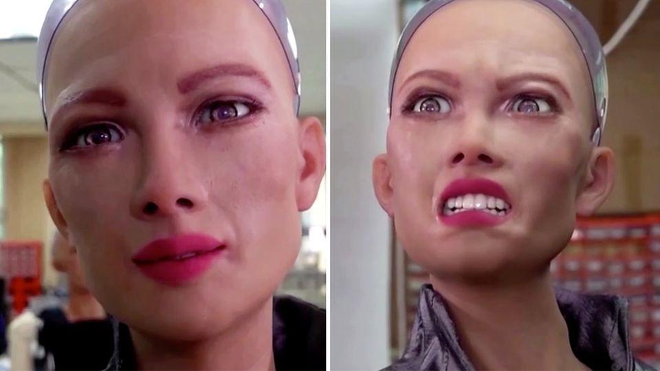 """Künstliche Intelligenz: Pflegen uns bald Roboter? """"Sophia"""" von Hanson Robotics ist beängstigend realistisch."""