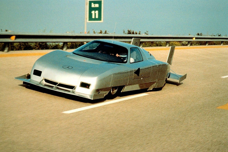 Der Mercedes Benz C 111 IV knackt 1979 in Nardo die 400 km/h Marke