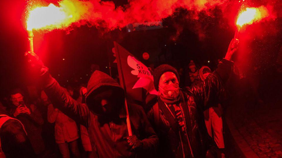 Polen: Proteste gegen das Verbot von Schwangerschaftsabbrüchen