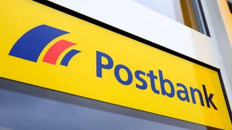 Schild der Postbank