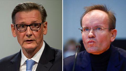 Alexander Schütz (l.), Mitglied des Aufsichtsrats bei der Deutschen Bank, und Ex-Wirecard-Chef Markus Braun