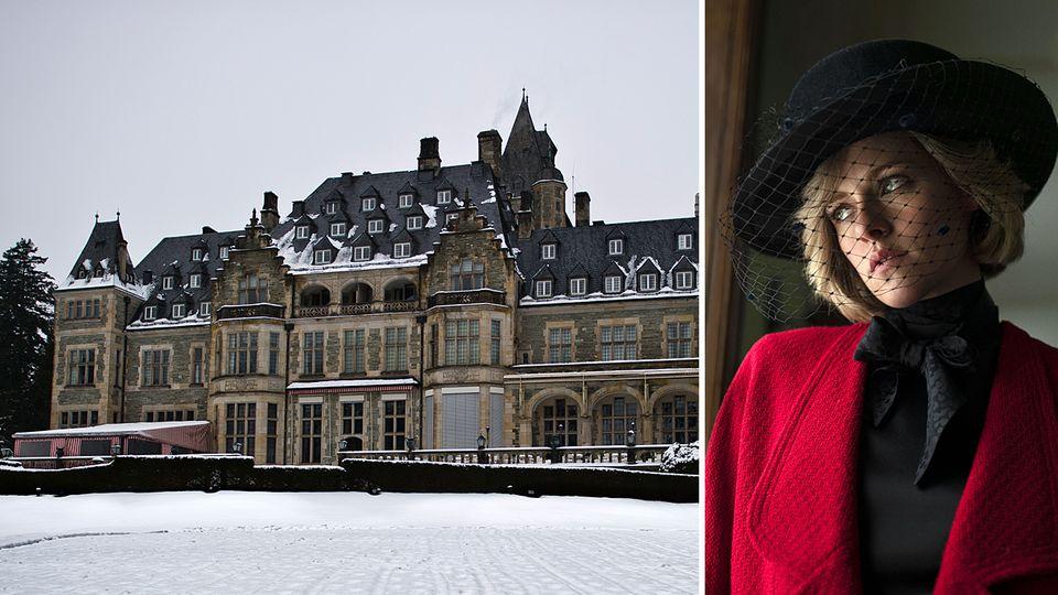 """DasSchlosshotel Kronbergim Taunus dient als Kulisse für den Film """"Spencer"""" mit Kristen Stewart"""
