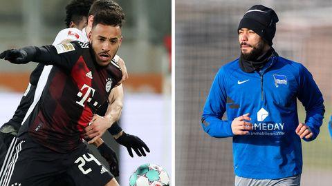 Bayern-SpielerCorentin Tolisso (l.) und Hertha-ProfiMatheus Cunha müssen beide blechen, weil sie sich neue Tatoos stechen lassen haben