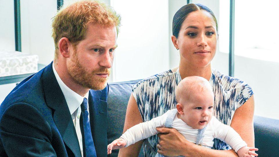 Prinz Harry und seine Frau Meghan mit dem gemeinsam Sohn Archie im September 2019