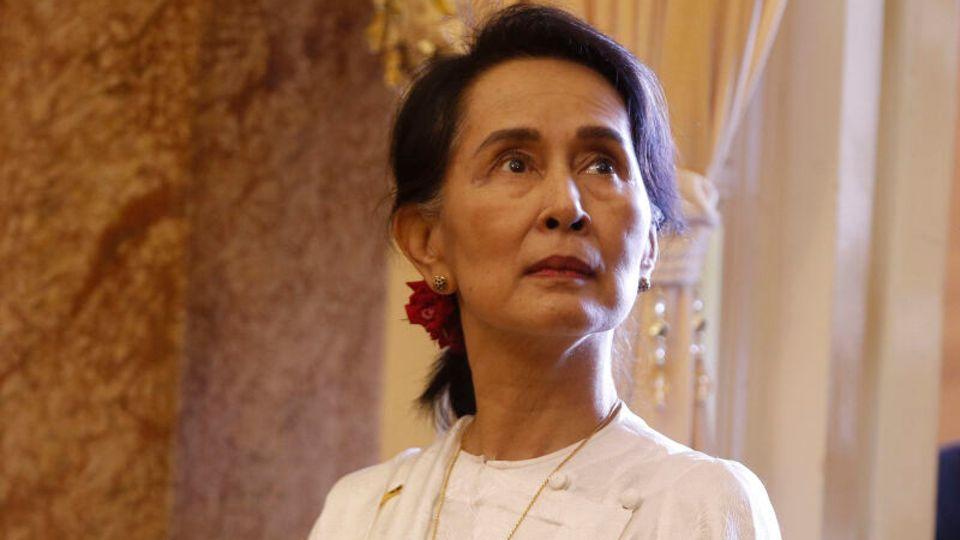 Aung San Suu Kyi, die entmachtete Regierungschefin von Myanmar