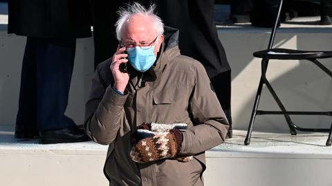 Bernie Sanders bei der Inauguration von Joe Biden