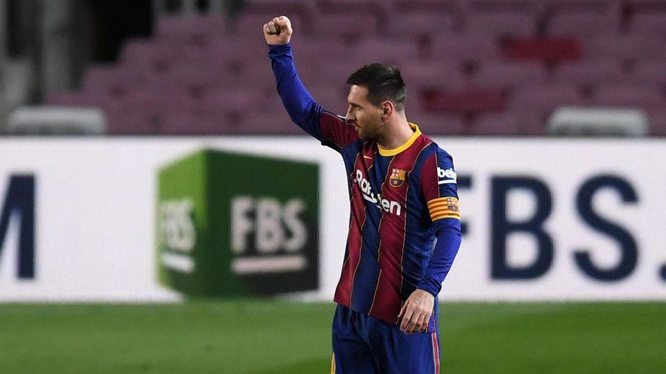Lionel Messi war im Spiel gegen AthleticBilbao nichts von denVeröffentlichungen zu seinem Gehalt anzumerken