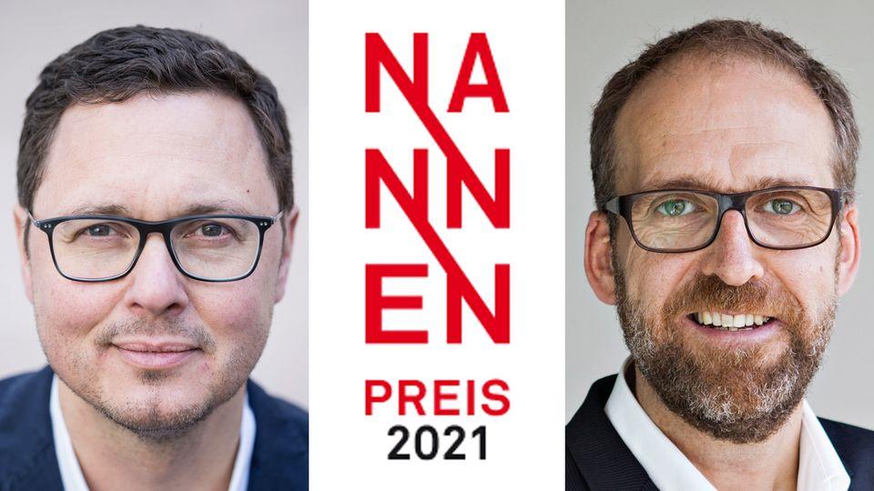 Florian Gless undChristoph Kucklick zum Nannen Preis 2021