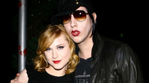 Evan Rachel Wood und Marilyn Manson