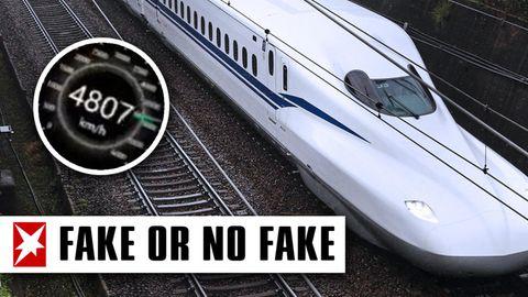 Reisen mit einer Geschwindigkeit von 4800 Kilometer pro Stunde.