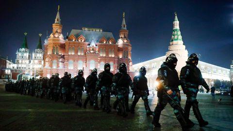 Polizei Moskau Nawalny