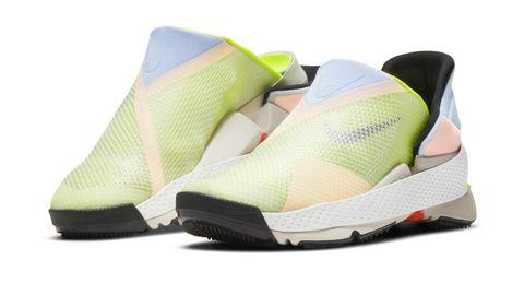 Die neu entwickelten Schuhe in Aquarellfarben