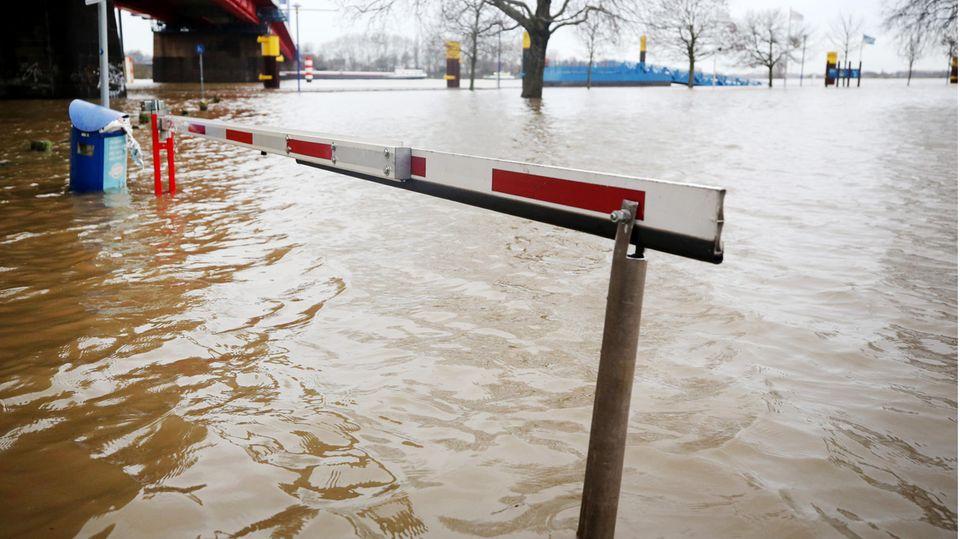 Hochwasser in Duisburg