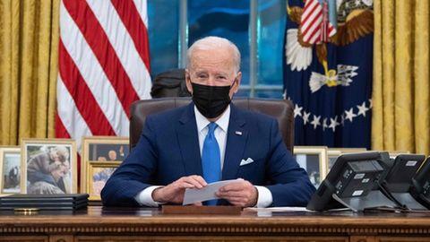 US-Präsident Joe Biden im Oval Office