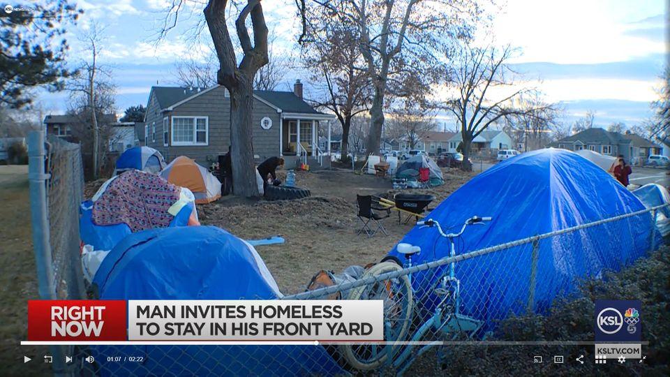Privates Obdachlosencamp in Salt Lake City