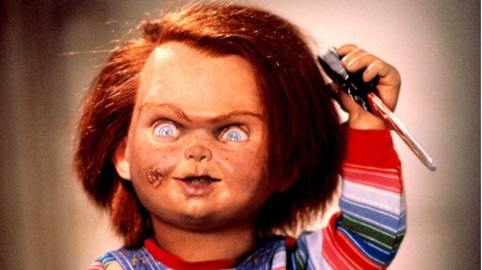 Die Mörderpuppe Chucky im ersten Film der Reihe aus dem Jahr 1988