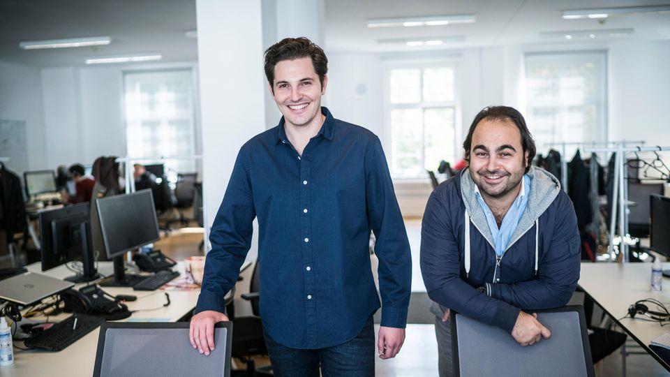 Die Gründer der Plattform Auto1:Christian Bertermann (l.) und Hakan Koç (r.)