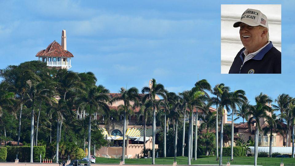Donald TrumpsClub-Resort Mar-a-Lago in Palm Beach im US-Bundesstaat Florida