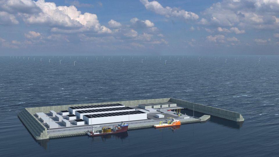 Eine Simulation der Windenergie-Insel
