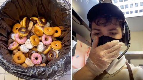Food Waste: Angestellter gefeuert, weil er Obdachlosen weggeworfene Donuts spendet