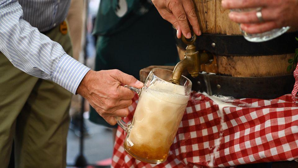 Gezapftes Bier