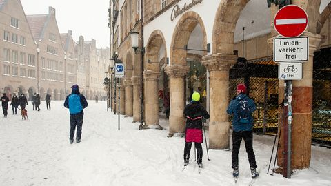Viel Schnee zum Wochenstart in Münster
