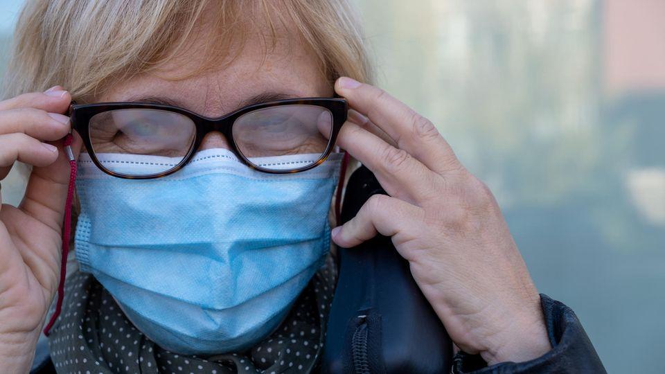 Brillengläser beschlagen durch die FFP-Masken