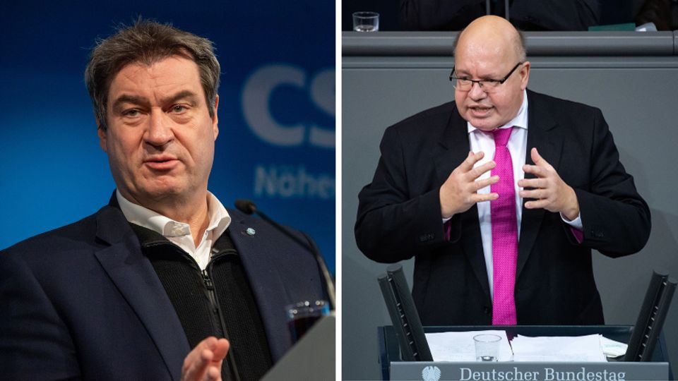 CSU-Chef Markus Söder und Wirtschaftsminister Peter Altmaier