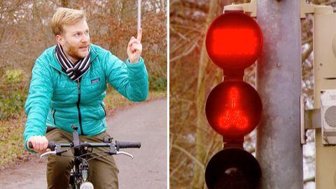 Ampel bringt die geduldigsten Radfahrer an ihre Grenzen