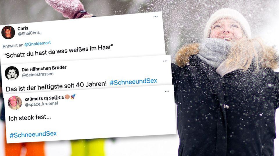 Schnee und Sex wir Twitter-Trend
