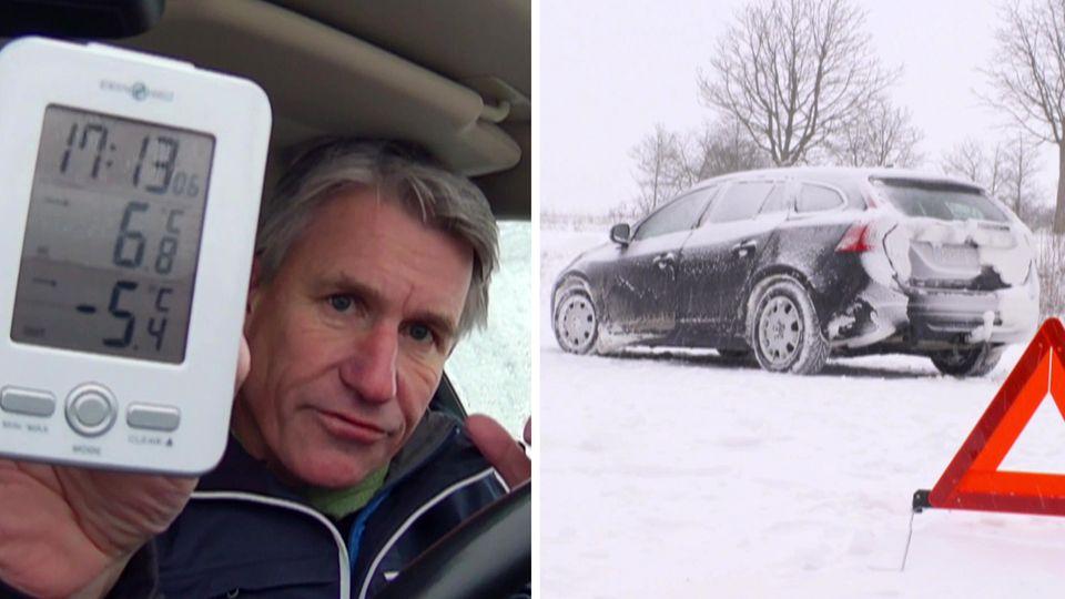 Selbsttest: Wie lange überlebt man bei Minusgraden im Auto?
