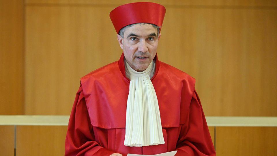 Baden-Württemberg, Karlsruhe: Stephan Harbarth, Vorsitzender des Senats beim Bundesverfassungsgericht und Präsident des Gerichts
