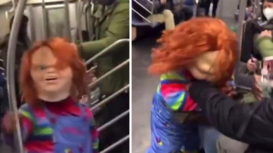 """Gruseliges Video: Mörderpuppe """"Chucky"""" greift Frau an –was hinter der Attacke steckt"""