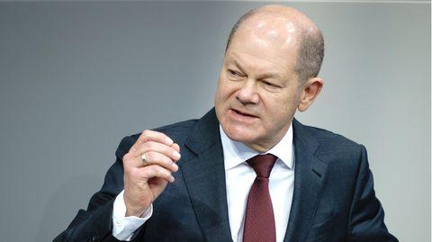 Bundesfinanzminister Olaf Scholz (SPD) im Bundestag