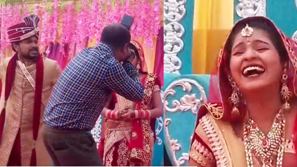Bräutigam schlägt auf Hochzeits-Fotografen ein – und die Braut lacht sich schlapp