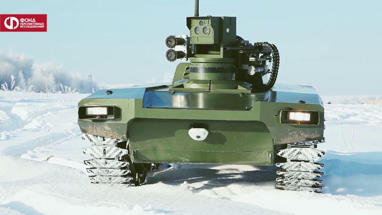 Kampfroboter im Schnee: Russland testet Geländetauglichkeit seiner Marker-Plattform - STERN.de
