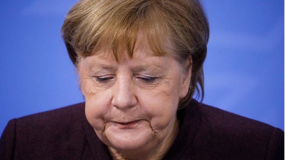 Angela Merkel während der Lockdown-Verkündigung