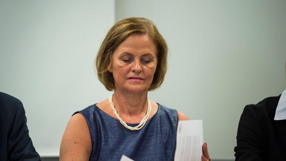 Oberstaatsanwältin Hildegard Bäumler-Hösl während einerPresserunde im Jahr 2018