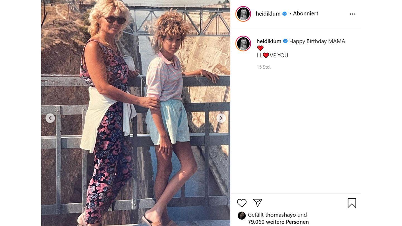 Vip News: Heidi Klum gratuliert Mutter Erna zum Geburtstag